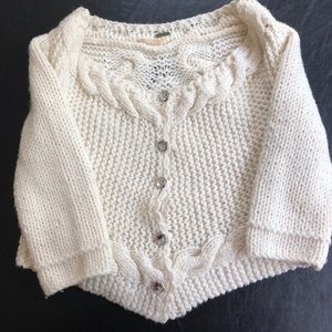 Free People Women's Cropped Sweater Size S